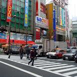 crossing in akihabara in Akihabara, Tokyo, Japan