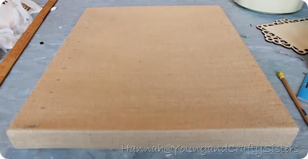 burlap canvas picture holder1