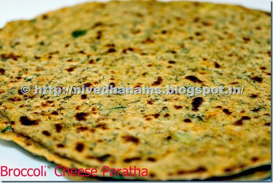 Brocolli Cheese Paratha - IMG_2545