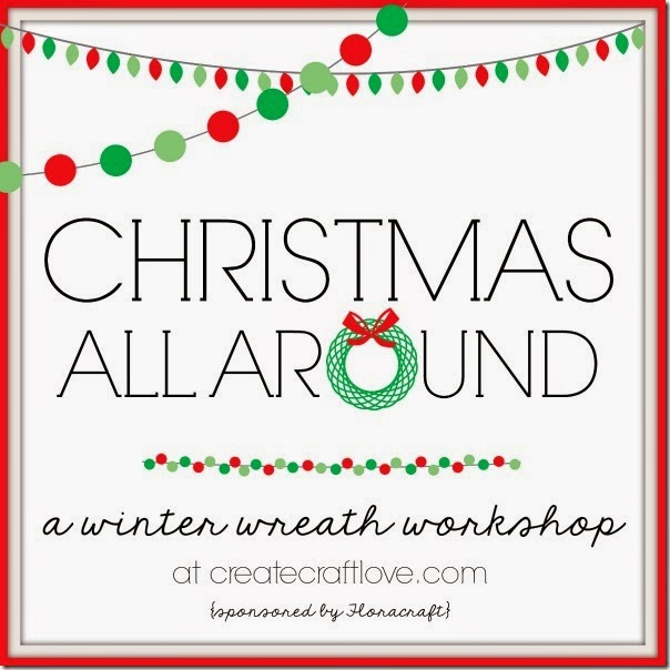 christmas winter wreath workshop