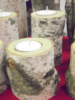 Birch tree candle holders.