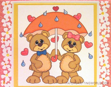 bears umbrella spring digital stamp cu-500