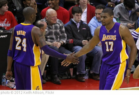 'Kobe Bryant, Andrew Bynum' photo (c) 2012, Keith Allison - license: https://creativecommons.org/licenses/by-sa/2.0/