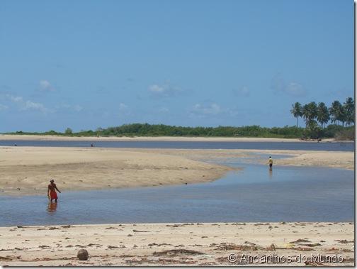 Barra do Camaragibe na Maré Baixa Rota Ecológica de Alagoas