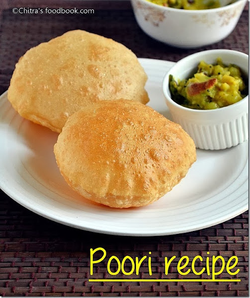 Poori recipe how to make puffy poori breakfast recipes poori recipe how to make puffy poori breakfast recipes chitras food book forumfinder Images