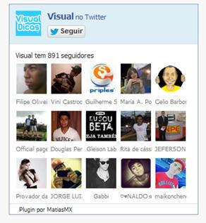 Coloque o Fan Box Twitter no seu blog (caixa de fãs do Twitter) - Visual Dicas