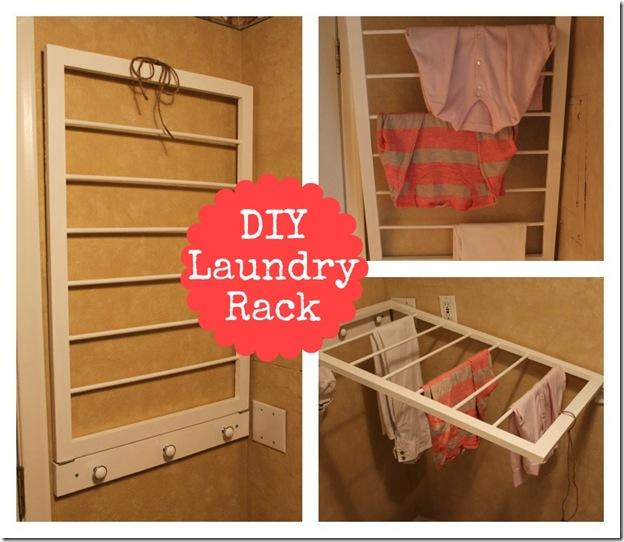 DIY Laundry Rack