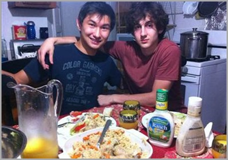Dias Kadyrbayev (L) with Boston Marathon bombing suspect Dzhokar Tsarnaev.