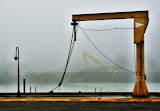 """Harbor Crane, Waukegan Illinois"" - copyright George Stein"