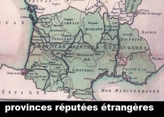 mapa Occitània province réputée étrangères