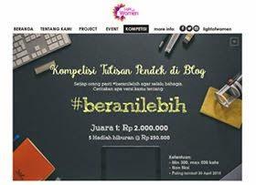 Kontes Blog Berani Lebih Berhadiah Uang Jutaan Rupiah