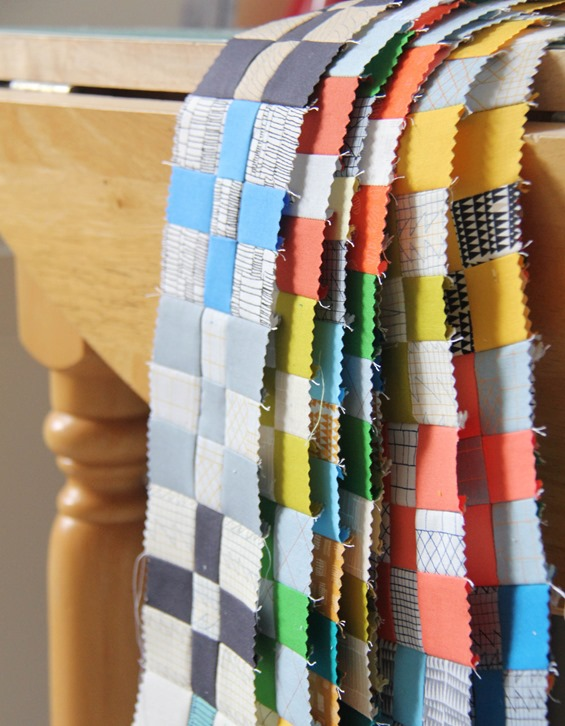 Doe Fabric Rows Sewn, Cluck Cluck Sew