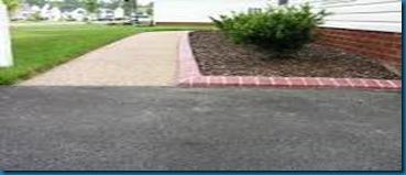 edged walkway