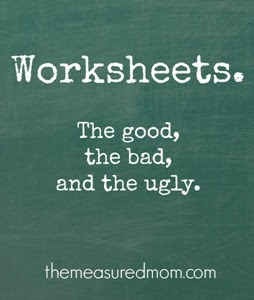worksheets-good-bad-and-ugly from The Measured Mom
