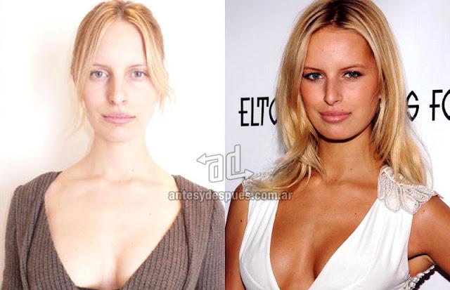 Fotos de la modelo Karolina Kurkova sin maquillaje
