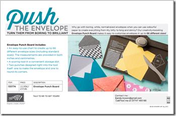 Envelope board advert 1a