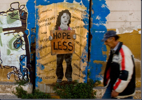 Anti-Government Grafitti Adorns Athens