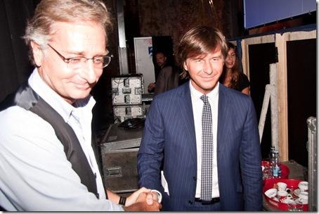 Paolo bonolis Alberto Goffi presentazione libro E qui l'italia