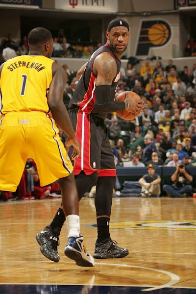 lebron james nba 140326 mia at ind 10 LeBron James Uses Safari Soldier 7s in a Loss vs. Pacers
