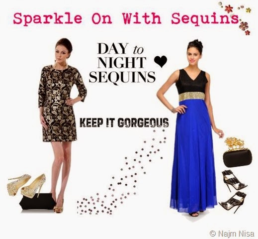 Sequin trend Sparkle on with sequins