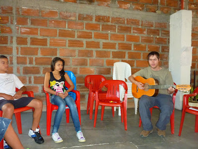 trying to teach an English song to some teenagers (didn't work..)