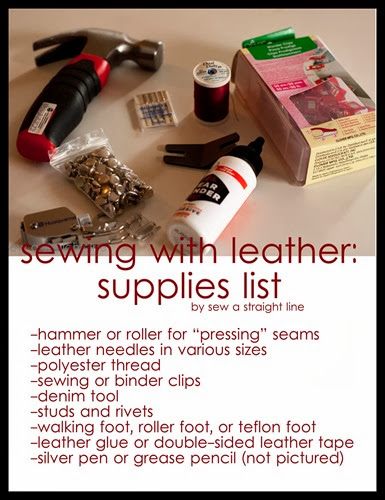 sew a straight line leather sewing supplies