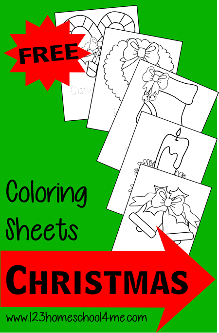 Free Christmas Coloring Pages for Kids #coloringpages #preschool