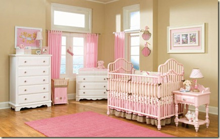 decoracion de dormitorio de bebe niña-ñ