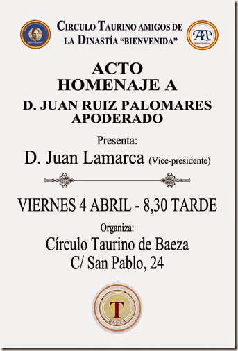 Homenaje a Juan Ruiz Palomares