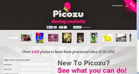 Picozu - sencillo editor online para subir y retocar imágenes