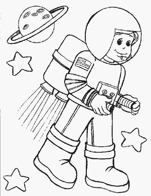 Excelente Juego De Astronauta Para Colorear Componente - Ideas Para ...
