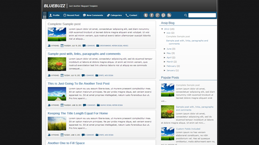 BlueBuzz Blogger Template