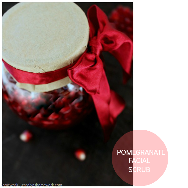 Homemade Pomegranate Facial Scrub via homework | carolynshomework.com