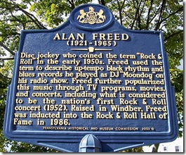 Alan Freed marker in Windber, PA (Click any photo to Enlarge)