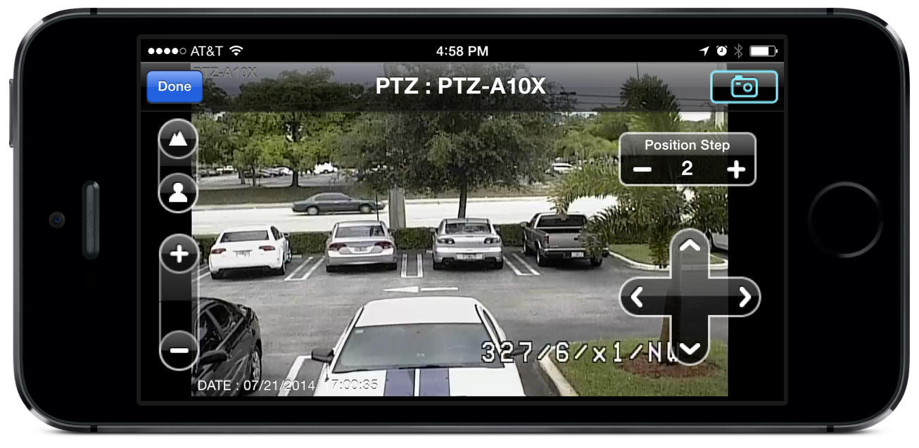 Iphone app with ptz camera controls - Camera connectee iphone ...