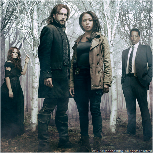 L to R: Katia Winter, Tom Mison, Nicole Beharie and Orlando Jones from SLEEPY HOLLOW.