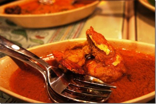 Sgar syrupy prawn malai curry