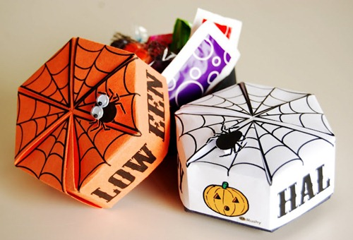 Printable Halloween Oragami Box
