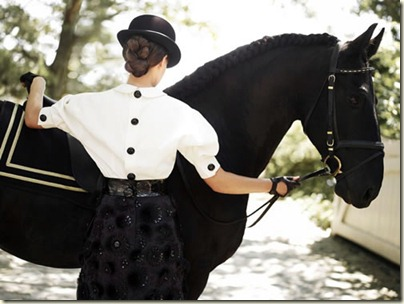 glamourous horse riding via yellowtrace tumblr