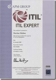 Certificado ITIL Expert