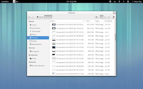 GNOME 3.6 - nuovo Nautilus 3.6
