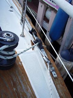 Car & block system for the jib sheets and furling line