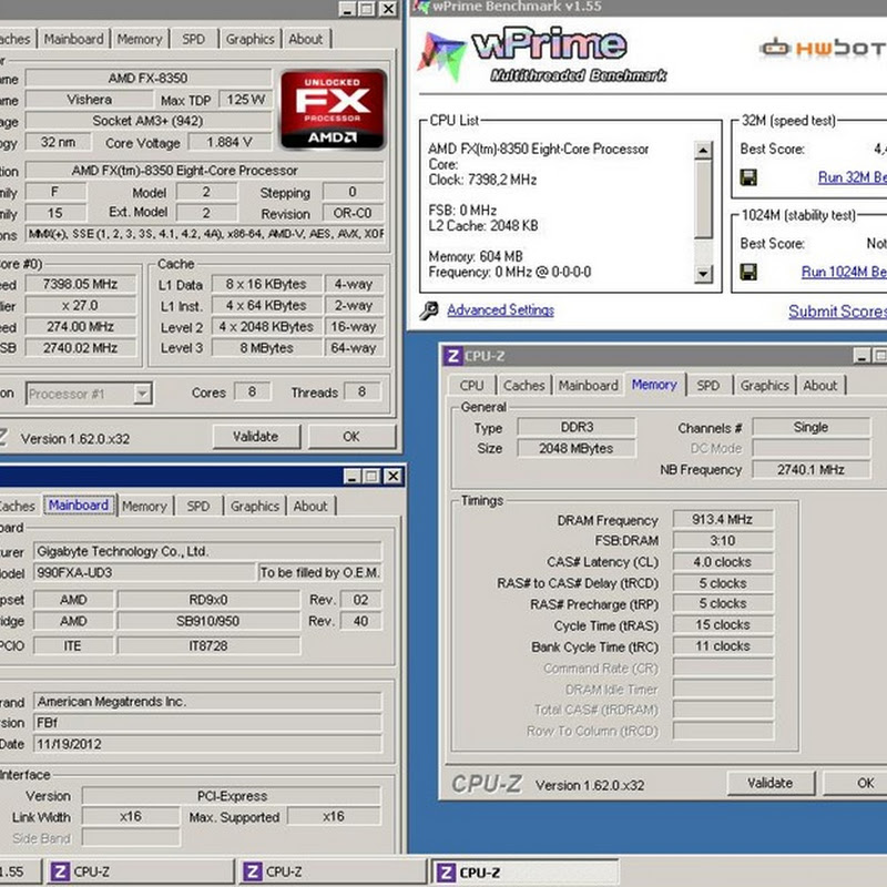 Cookie breaks Piledriver WPRIME 32M record on GIGABYTE 990FXA-UD3