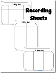 Recording Sheets