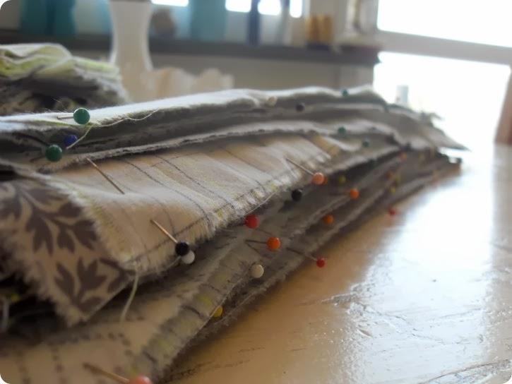Strimler til et tæppe