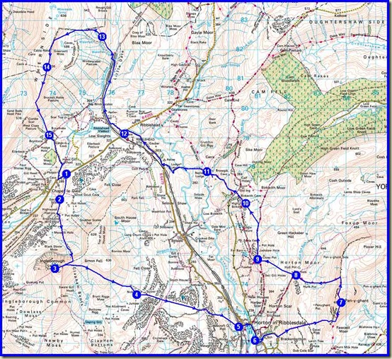 Our route - 39km with around 1500 metres ascent, taking us 9 hours 40 minutes
