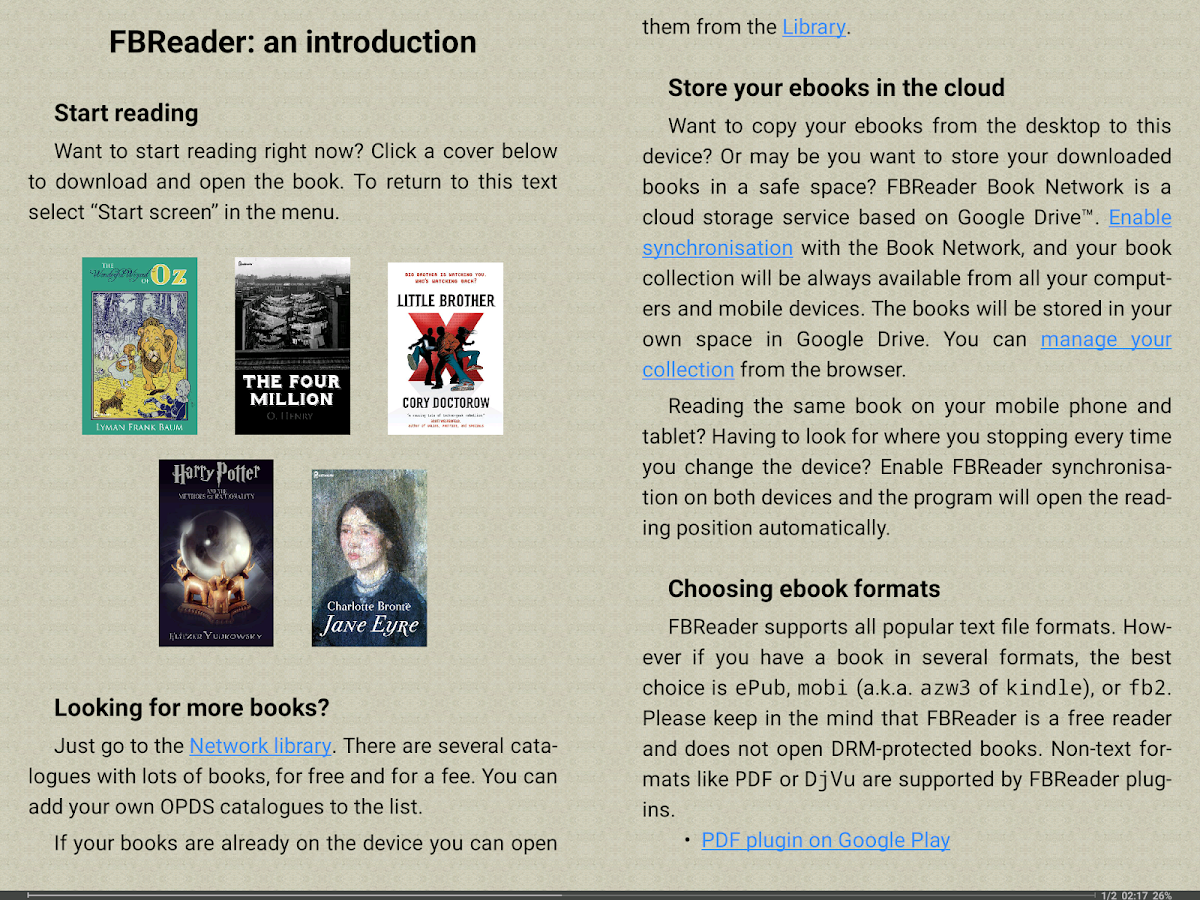 FBReader: Favorite Book Reader Screenshot 7