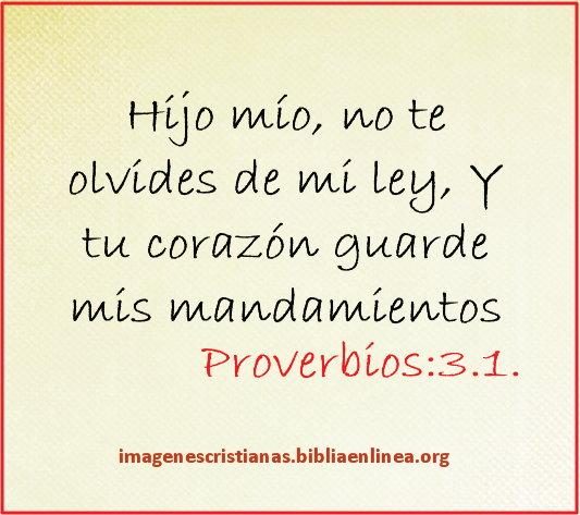 Imagen cristiana con proverbios 3.1