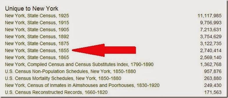 1855 NY census listing