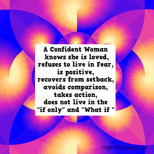 Being a confident woman